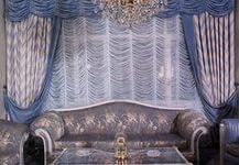Французские шторы в гостинной