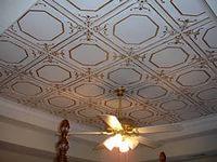 Отделка потолка плиткой из пенополистирола