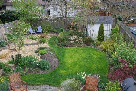 Как обустроить маленький садовый участок