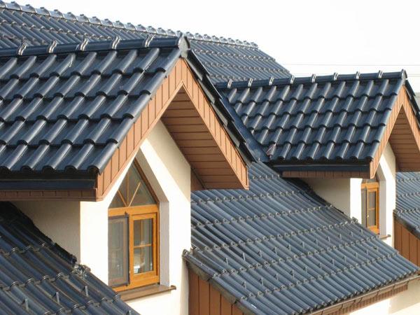 Готовая крыша из натуральной ерепицы