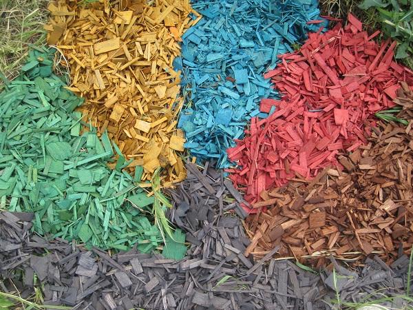 Как сделать цветной опил