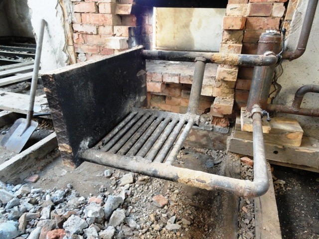Печка с котлом своими руками фото