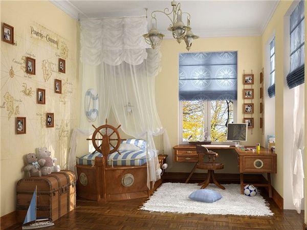 Детская комната в морских тонах