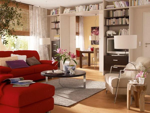 Красивый дизайн гостиной комнаты