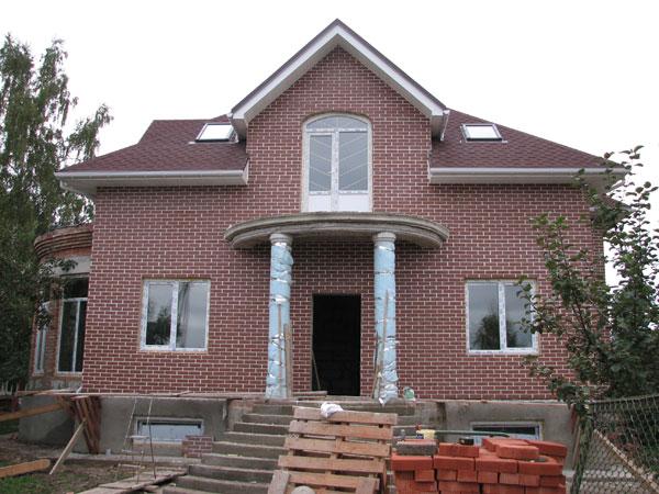 Отделка фасадов частных домов по газобетону