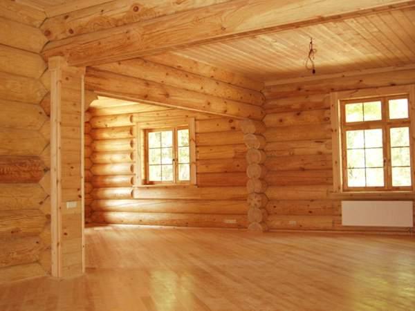 Деревянный дом из бруса - внутренняя отделка