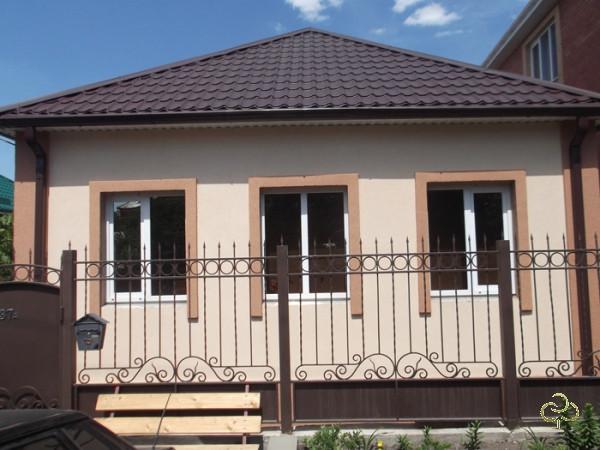 Красивая отделка фасада дома