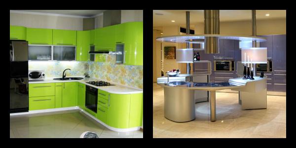 Вариант дизайна для кухни размером 9 квадратов