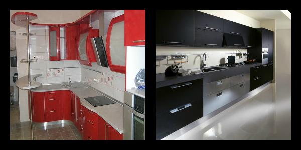 Интерьер кухни в красных и черны тонах - тренд года!
