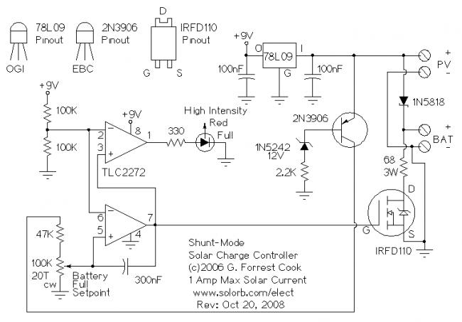 схема заряда аккумулятора на авто