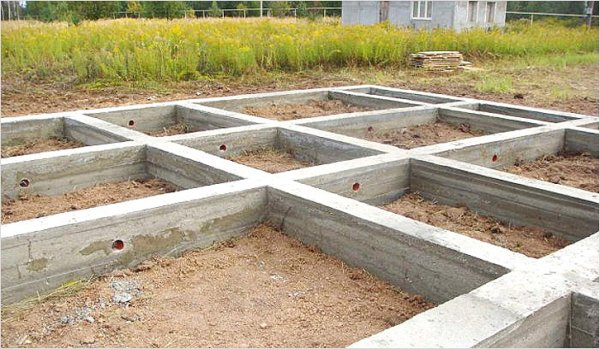 Вид фундамента для строительства дома