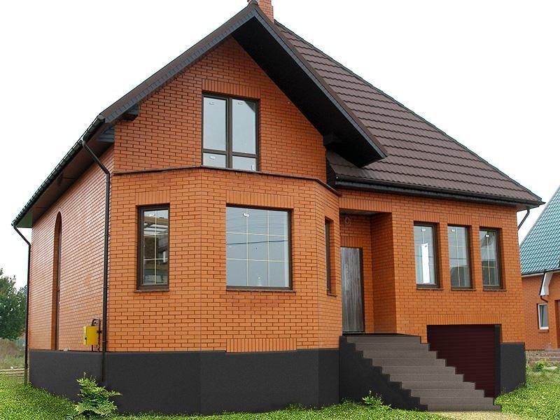 Рис 43343 - современный и практичный дом из кирпича за три месяца. быстро, качест