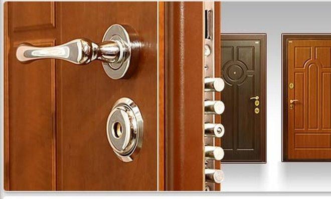 стальные металлические двери установка