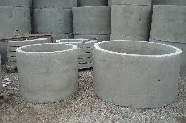 Где используются бетонные кольца?