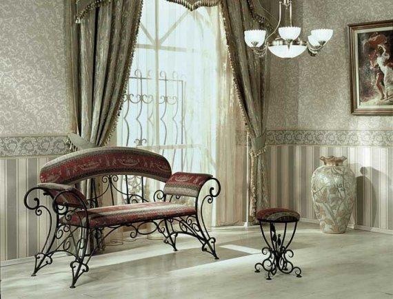 Кованая мебель как предмет интерьера