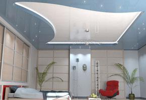 Натяжные потолки из пленки ПВХ - выбор и нюансы монтажа