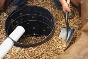 Отвод ливневых и грунтовых вод от фундамента дома.
