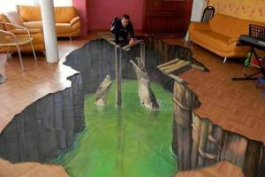 Наливные полы с 3D эффектом и рисунками