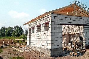 Пенобетонные блоки. Строительство гаража.