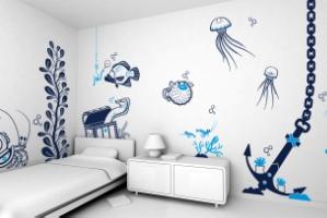 Покраска стен декоративной краской