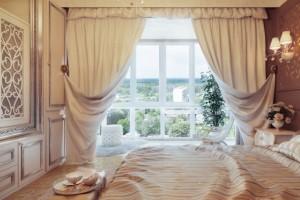 Как правильно выбрать шторы в спальню.