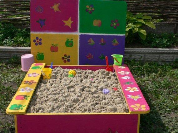 Детские песочницы для дачи своими руками