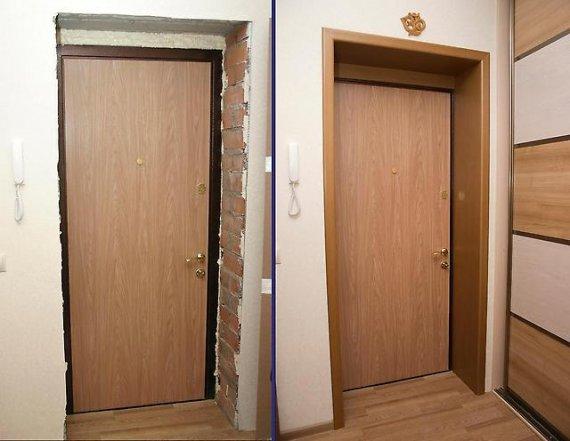 Как установить откосы на входную дверь?