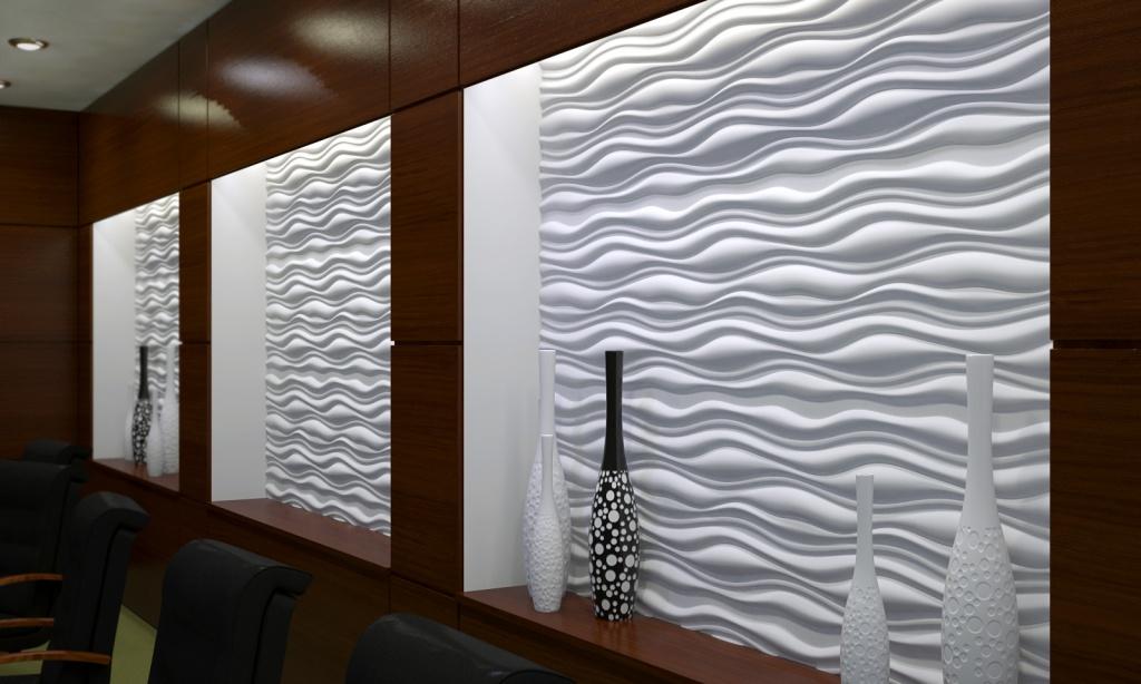 Декор гипсовыми панелями