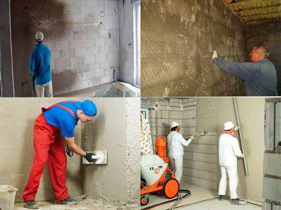 Как штукатурить стены из пеноблоков?