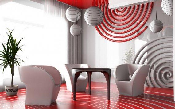 Как создать комнату в стиле авангард?