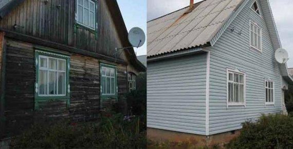 Отделка старого деревянного дома сайдингом