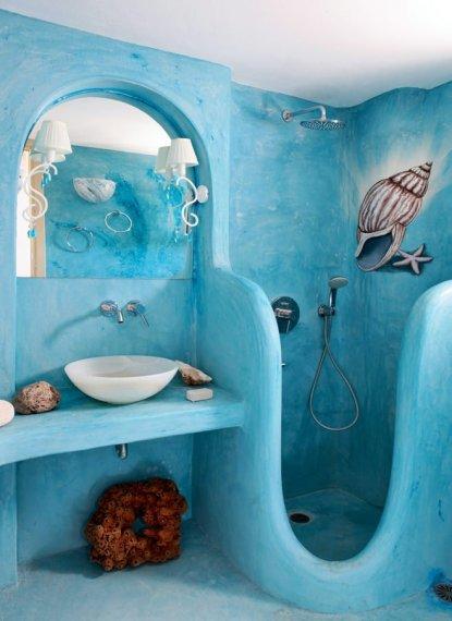 Необычная отделка для ванной