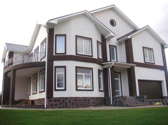 Варианты отделки фасадов домов
