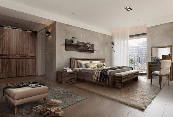 Мебель для спальни в стиле лофт