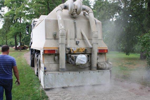 Укрепление грунта: метод - цементация