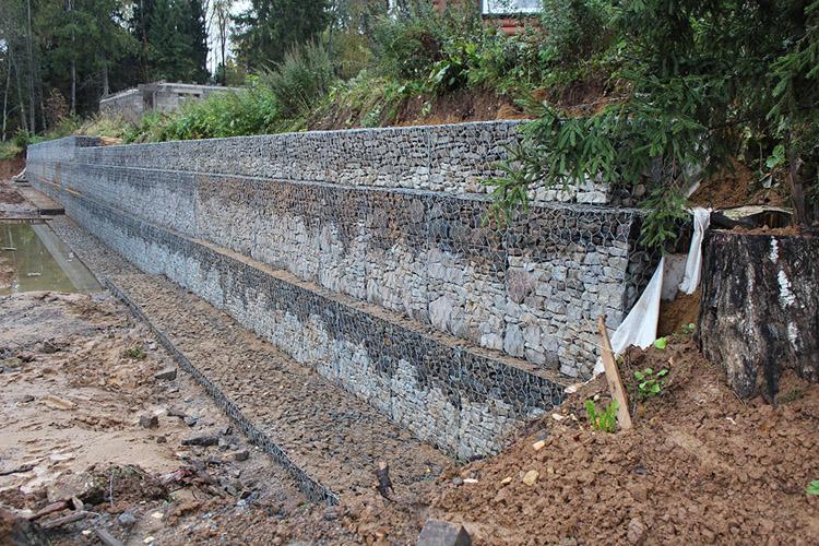 Прямоугольные подпорные стены