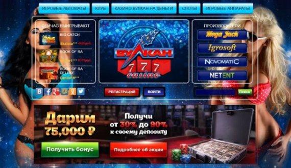 Ассортимент онлайн-игр в казино Вулкан 777