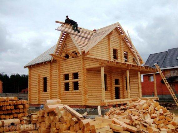 Особенности строительства домов из бревна